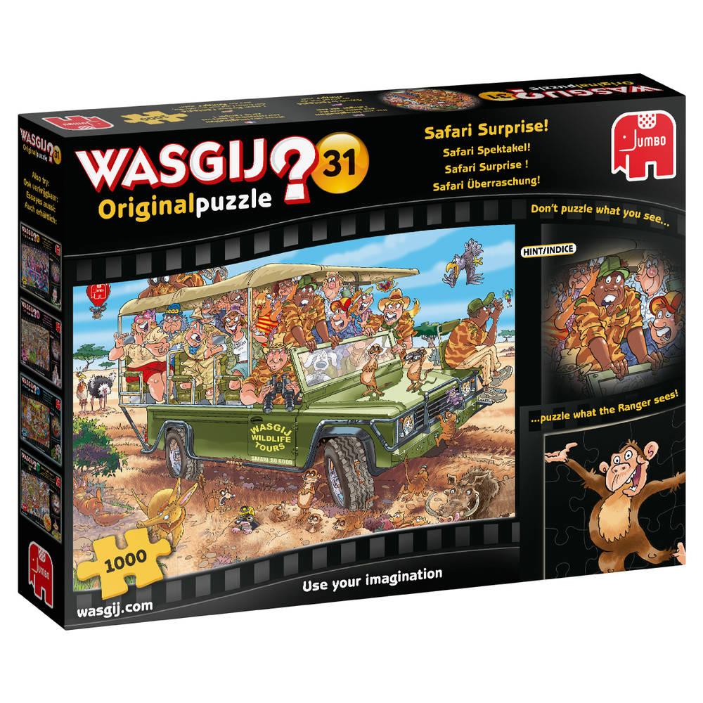 Jumbo Wasgij Original 31 puzzel Safari spektakel - 1000 stukjes