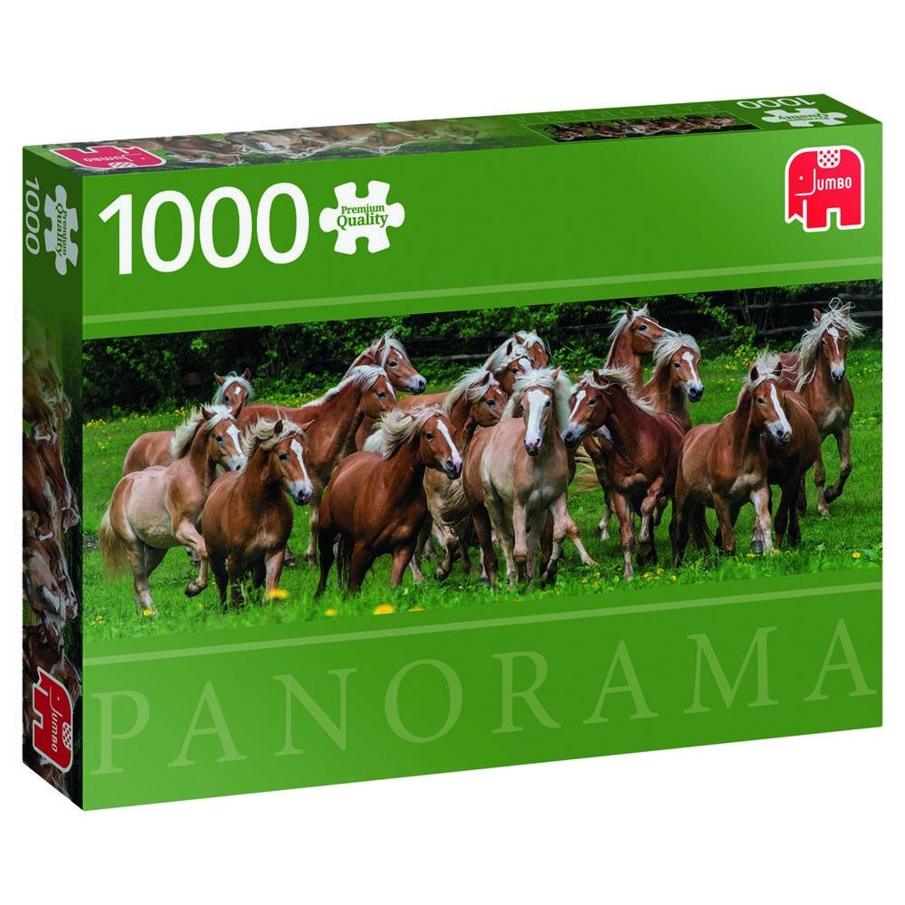Jumbo Premium Collection puzzel haflinger paarden - 1000 stukjes