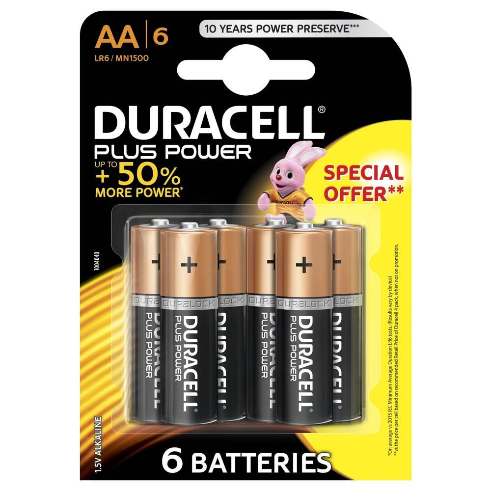Duracell Plus Power AA alkaline batterijen - 6 stuks