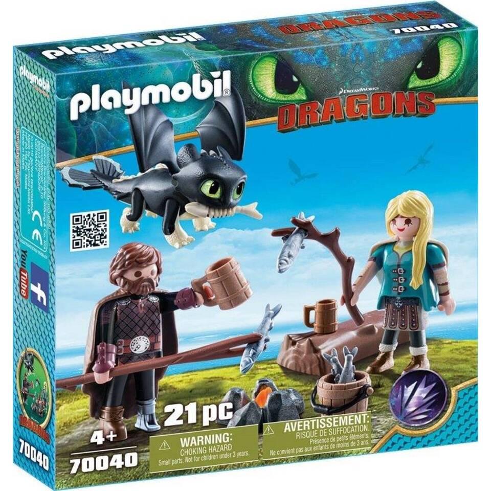 PLAYMOBIL Dragons Hikkie en Astrid 70040