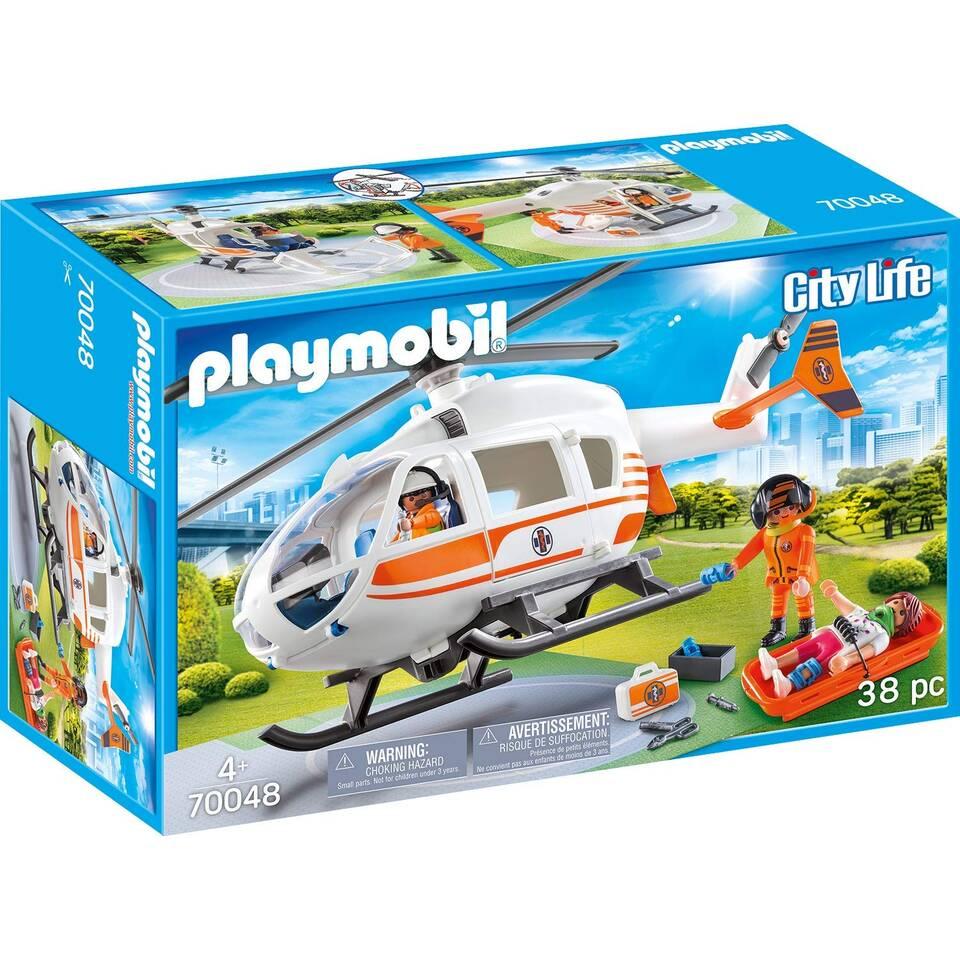 PLAYMOBIL City Life eerste hulp helikopter 70048