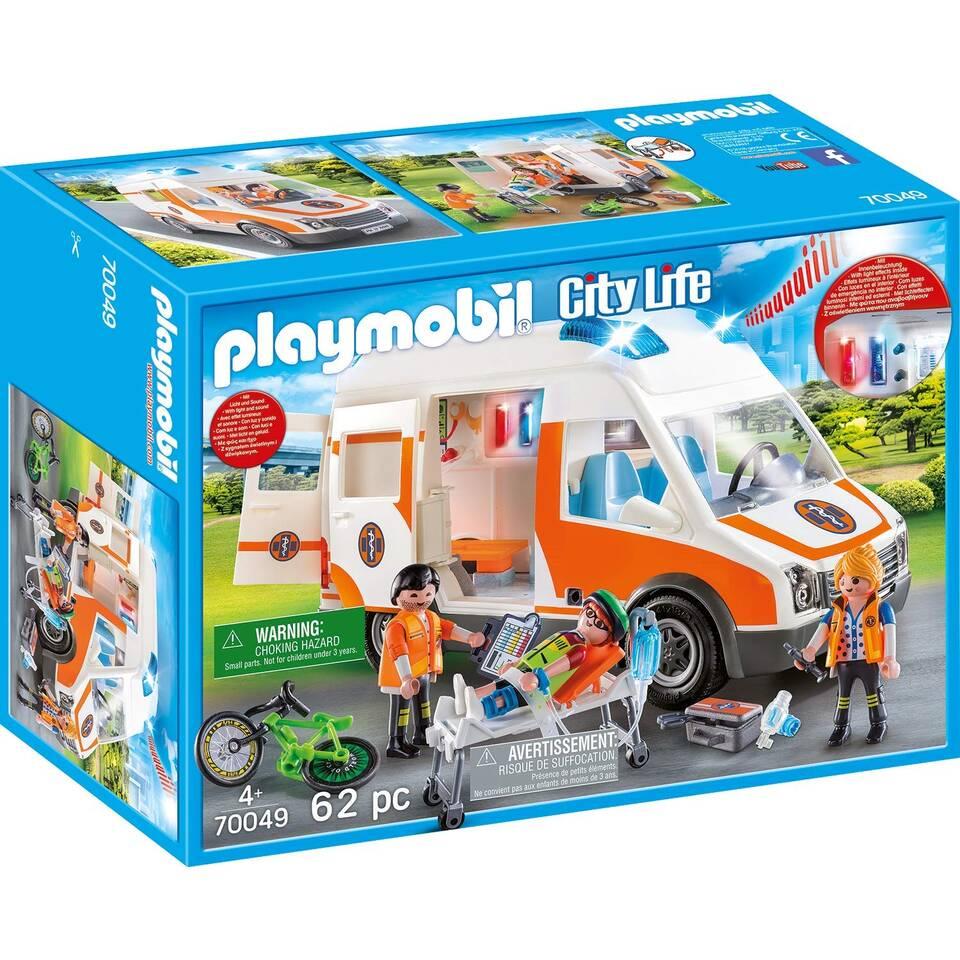 PLAYMOBIL City Life ambulance met zwaailicht 70049