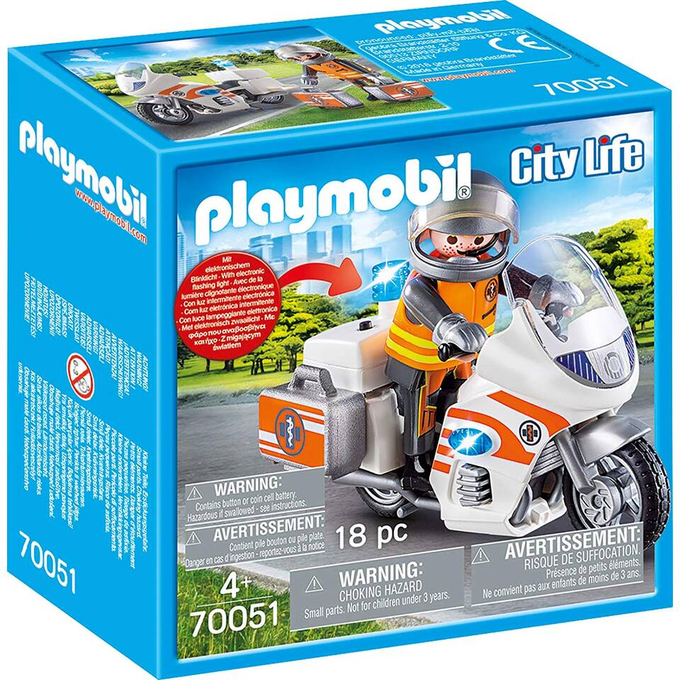 PLAYMOBIL City Life spoedarts op motor 70051