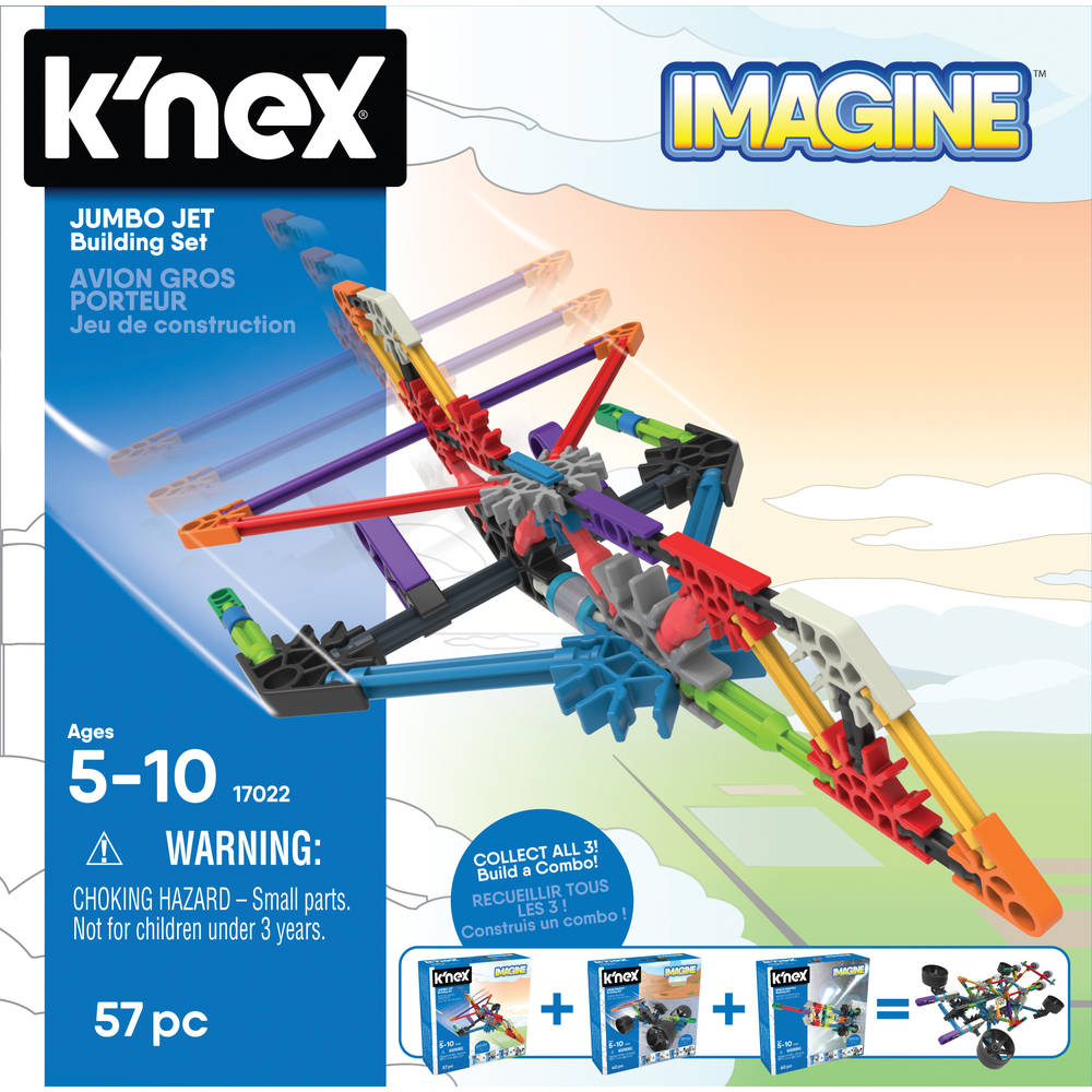 K'NEX Imagine jumbo jet bouwset