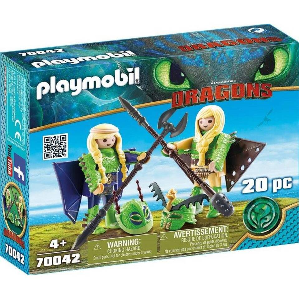 PLAYMOBIL Dragons Schorrie & Morrie 70042