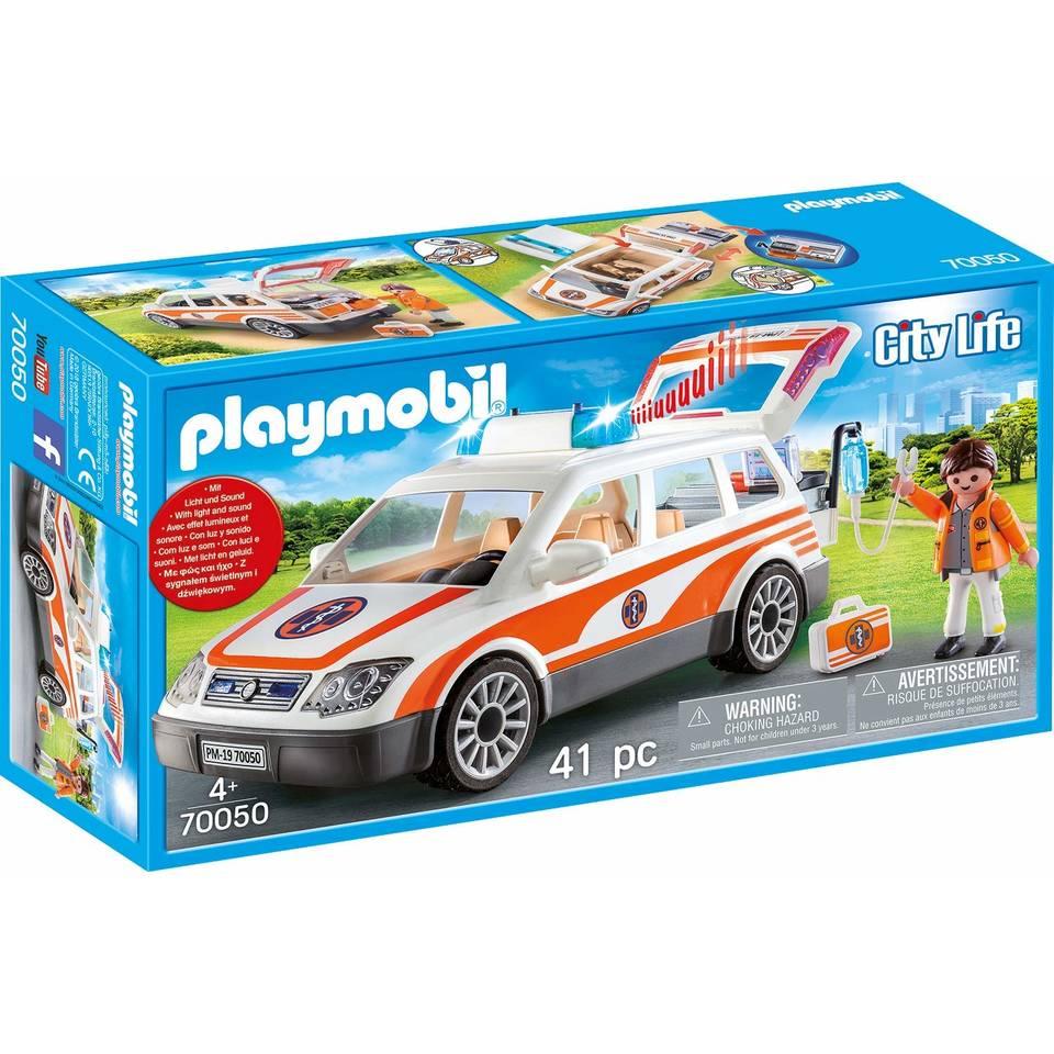 PLAYMOBIL City Life ziekenwagen met licht en geluid 70050