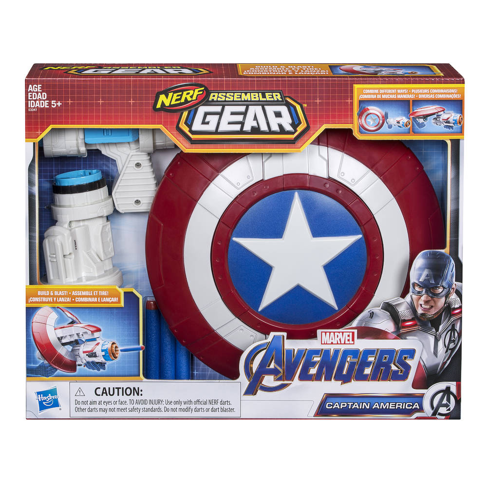 NERF Marvel Avengers: Endgame Assembler Gear speelset Captain America