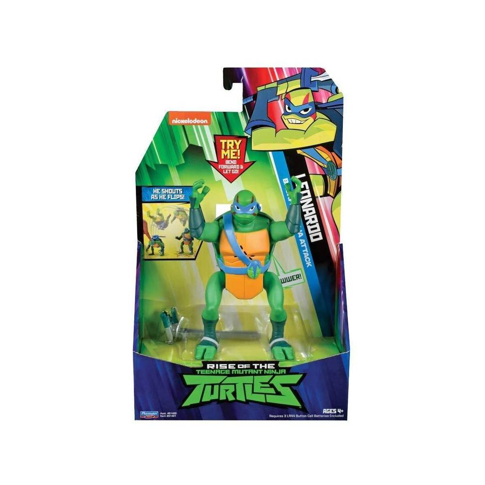 Rise of the Teenage Mutant Ninja Turtles deluxe elektronisch figuur Leo