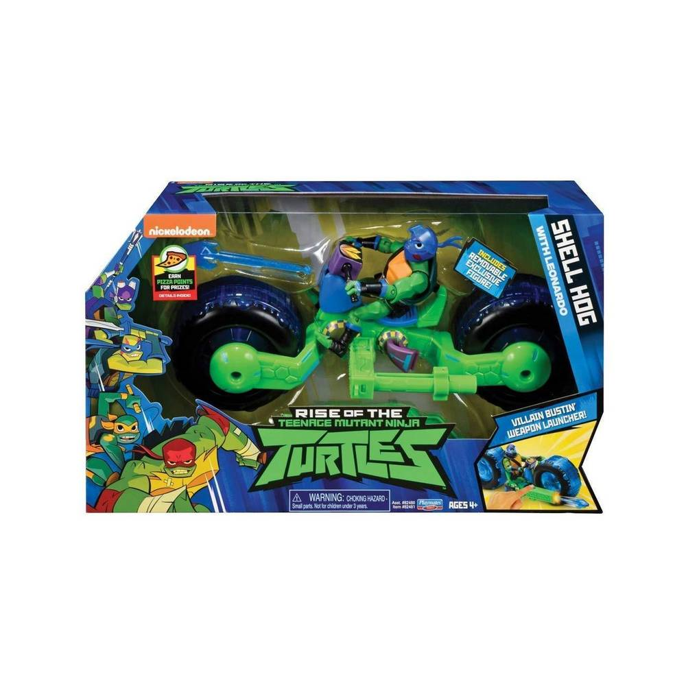 Rise of the Teenage Mutant Ninja Turtles deluxe voertuig met figuur Leo