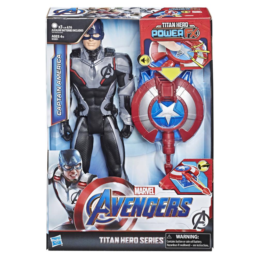 Avengers Titan Hero Power FX Captain America speelfiguur - 30 cm