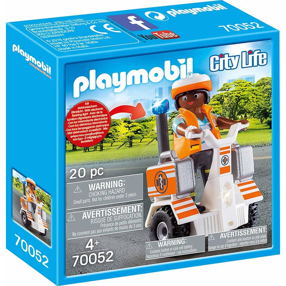 PLAYMOBIL City Life ambulance scooter 70052