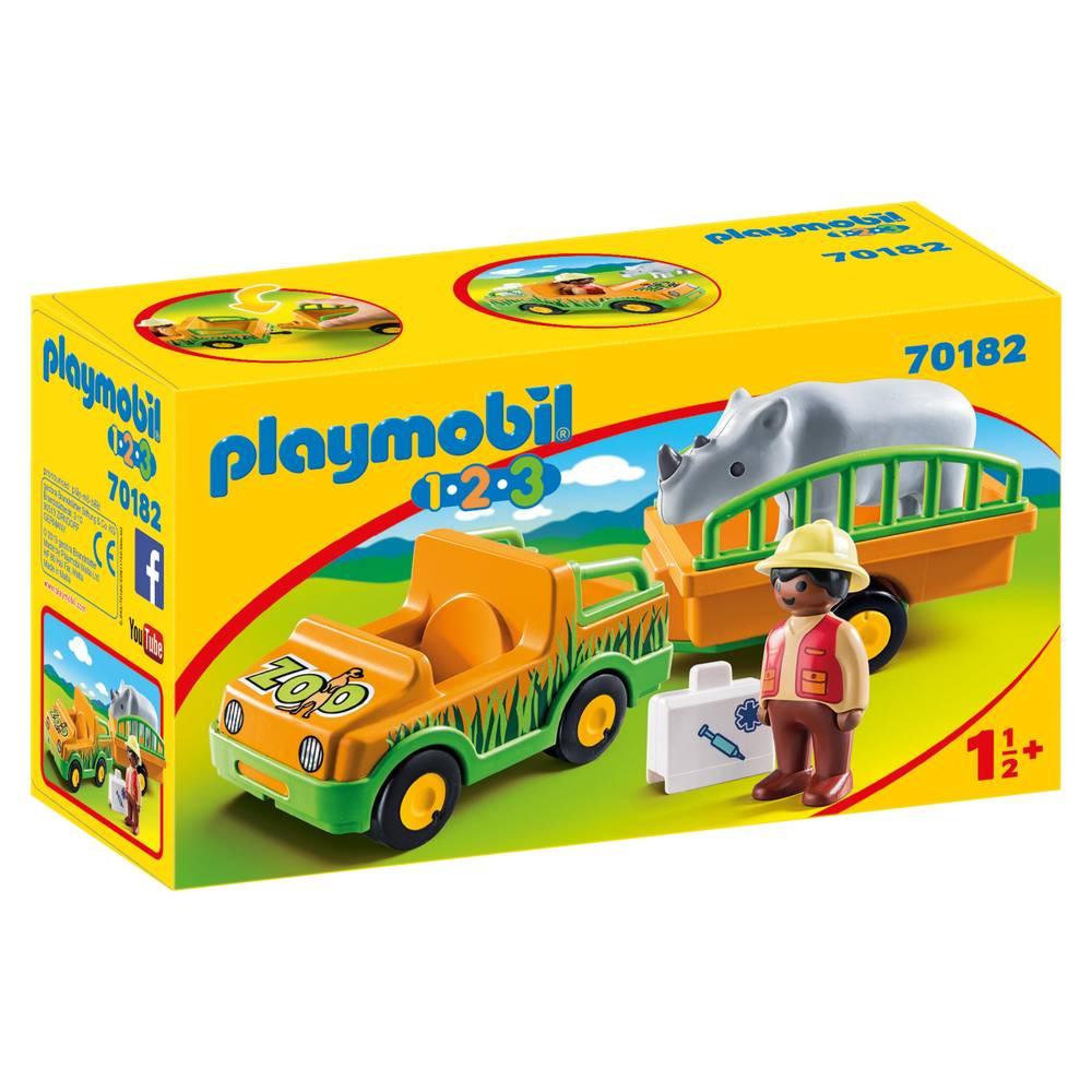 PLAYMOBIL jeep met neushoorn 70182