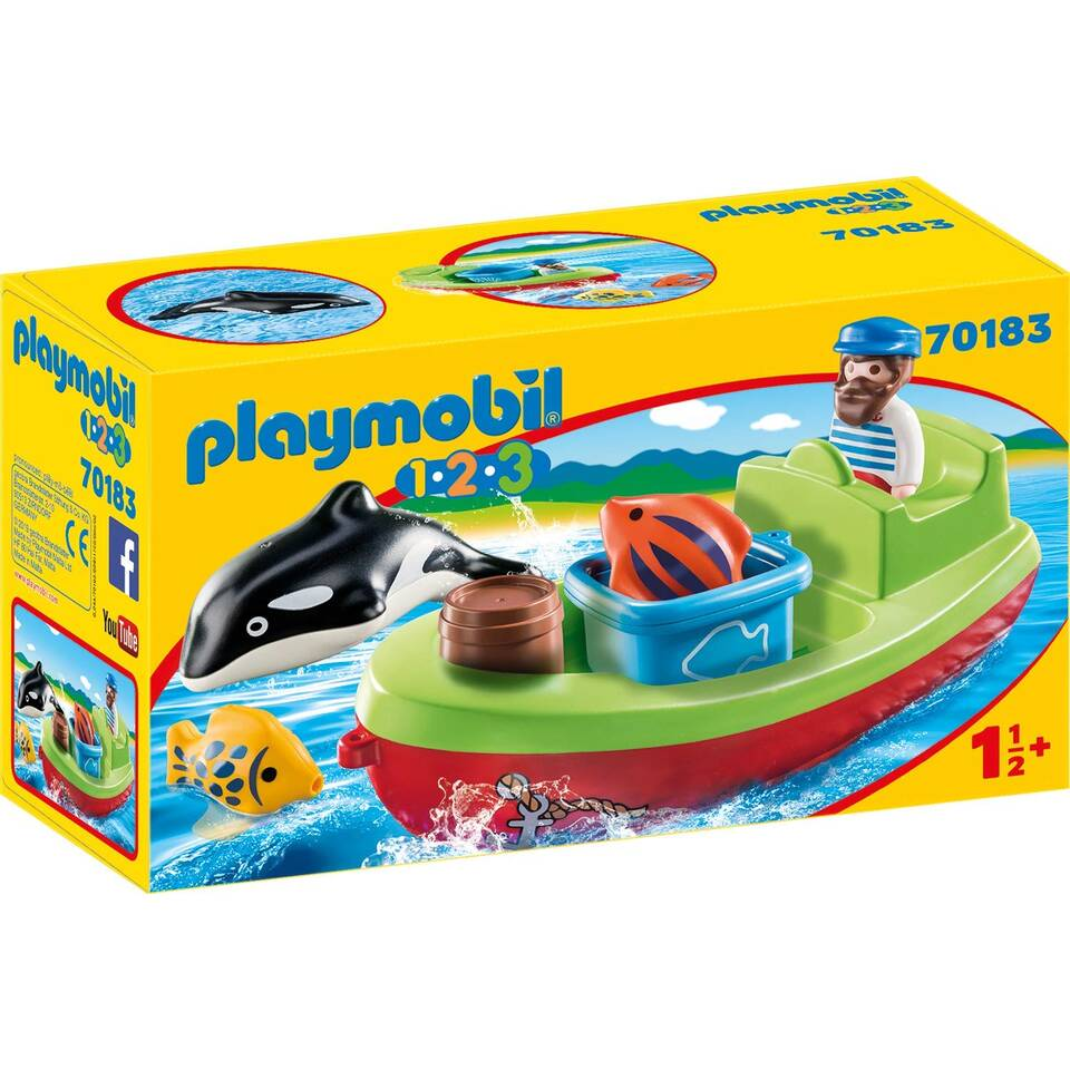 PLAYMOBIL 1.2.3 visser met boot 70183