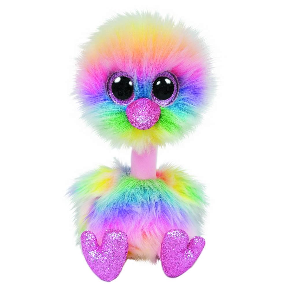 Ty Beanie Boo struisvogel knuffel Asha - 15 cm