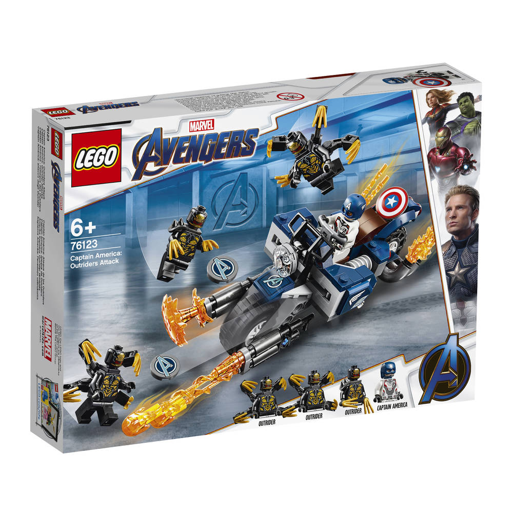 LEGO Avengers: Endgame Captain America en de aanval van de Outriders 76123
