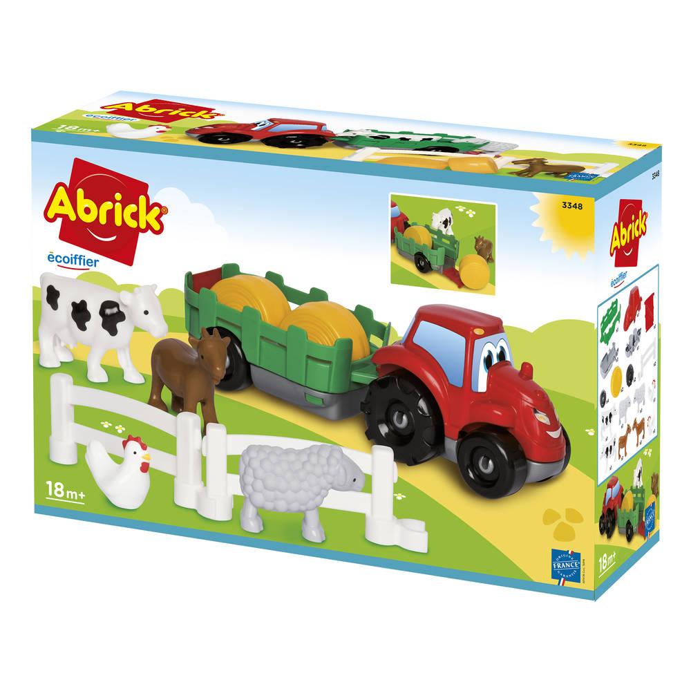 Abrick tractor met aanhanger