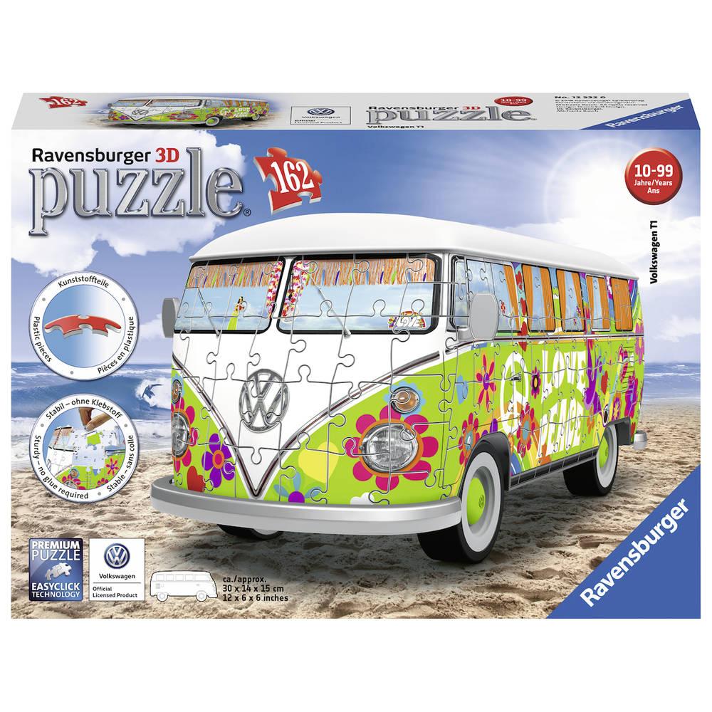 Ravensburger 3D-puzzel VW bus Hippie Style - 162 stukjes