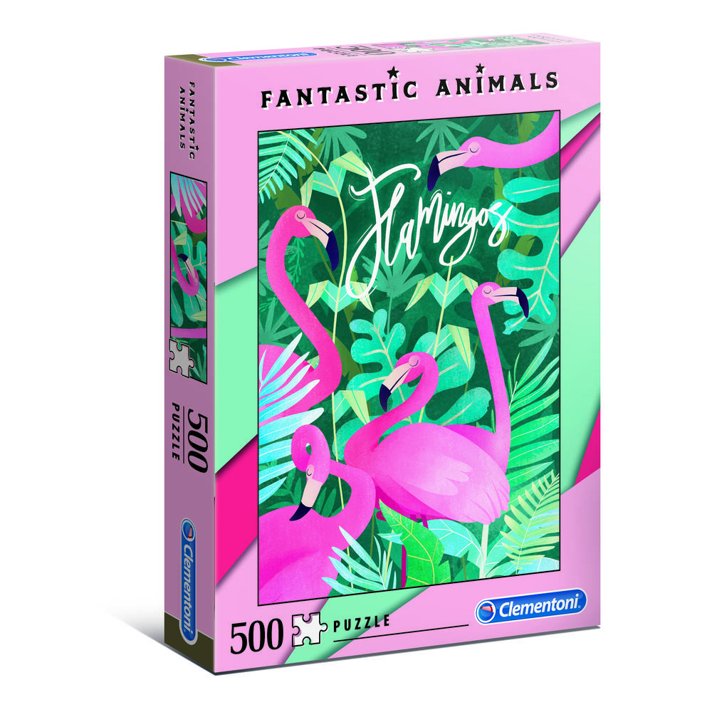 Clementoni puzzel fantastische dieren flamingo's - 500 stukjes