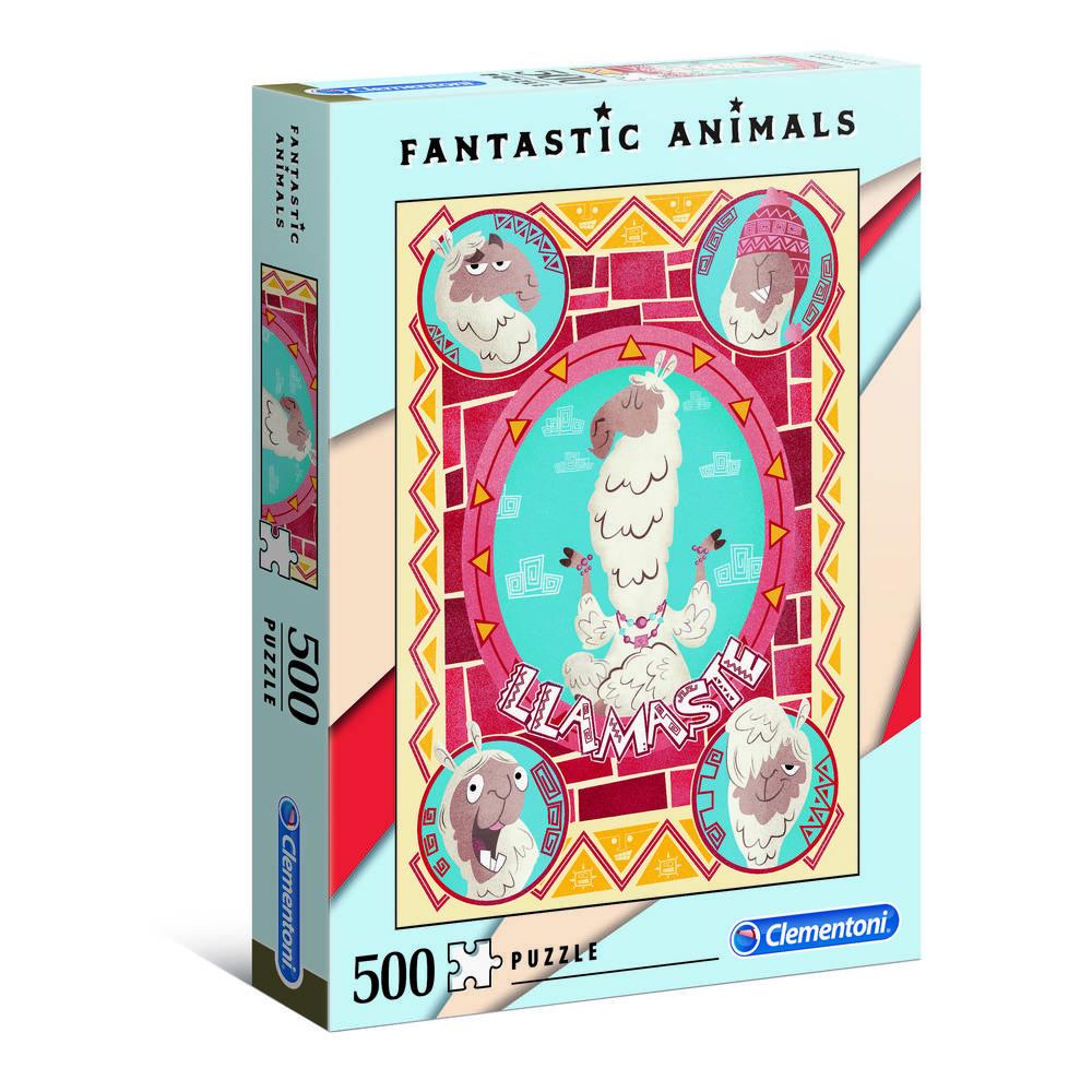 Clementoni puzzel fantastische dieren lama's - 500 stukjes
