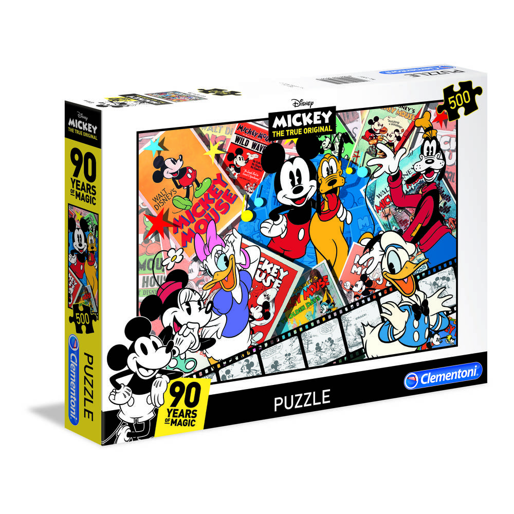 Clementoni puzzel Mickey Mouse 90e verjaardag - 500 stukjes