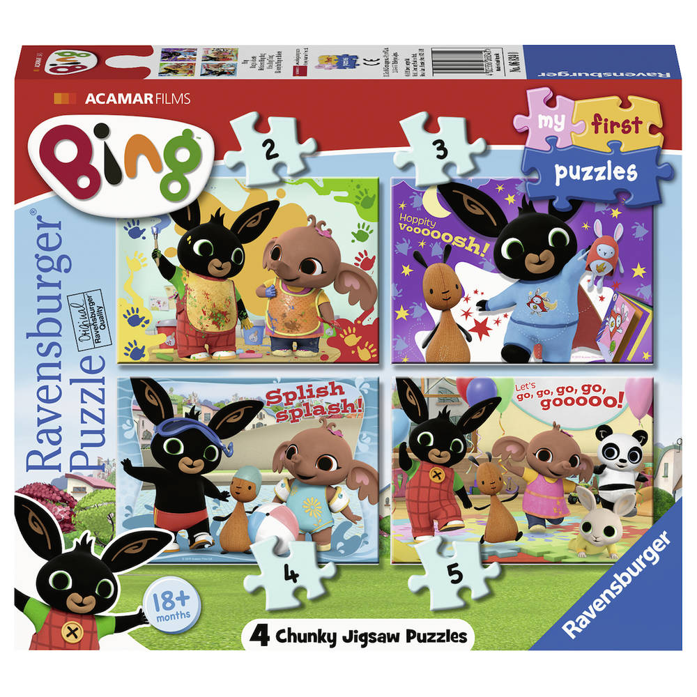 Ravensburger My First Puzzles 4-in-1 puzzelset Bing Bunny - 2 + 4 + 6 + 8 stukjes