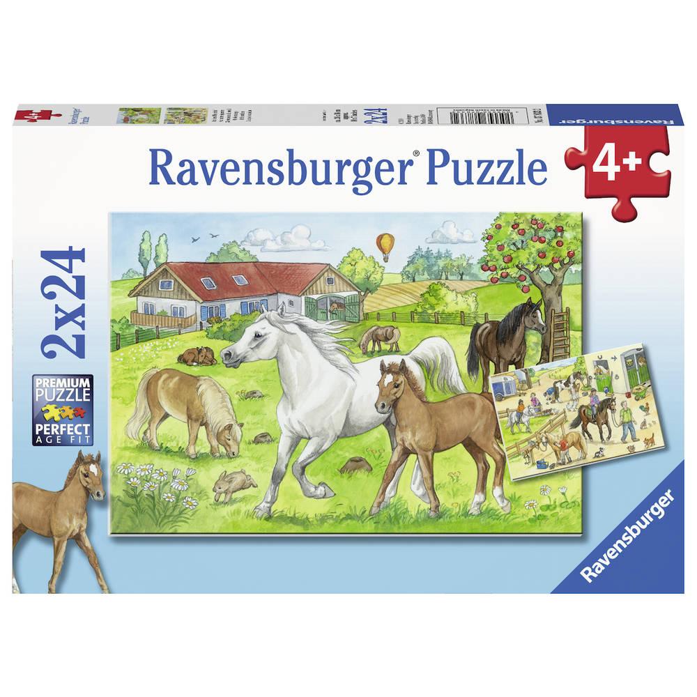 Ravensburger puzzelset Op de manege - 2 x 24 stukjes