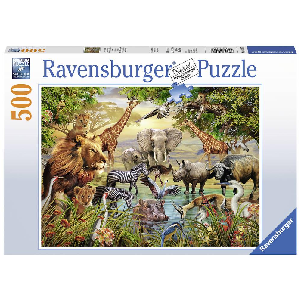 Ravensburger puzzel Prachtige dierendrinkplaats - 500 stukjes