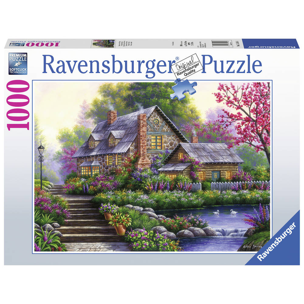 Ravensburger puzzel Romantisch huisje (Intertoys)