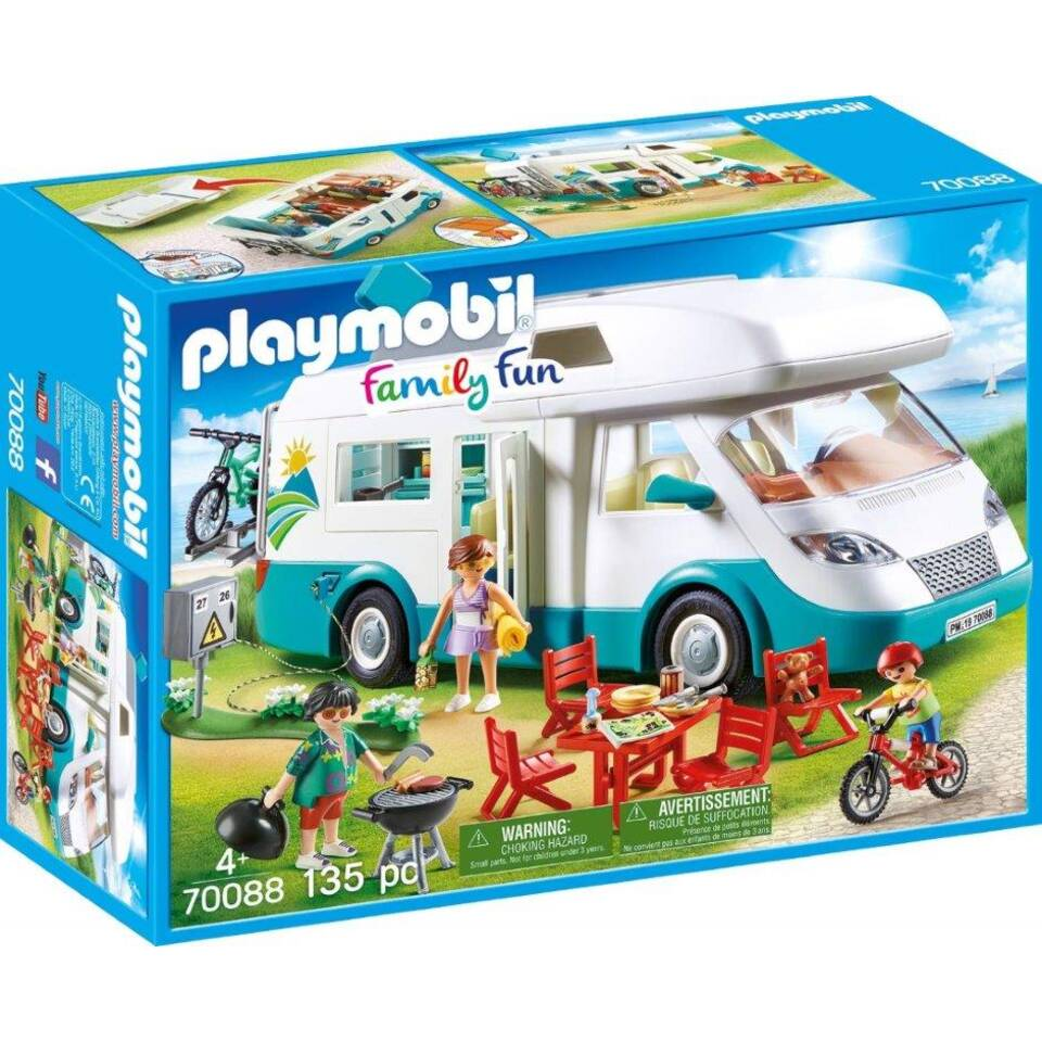 PLAYMOBIL Family Fun camper met familie 70088