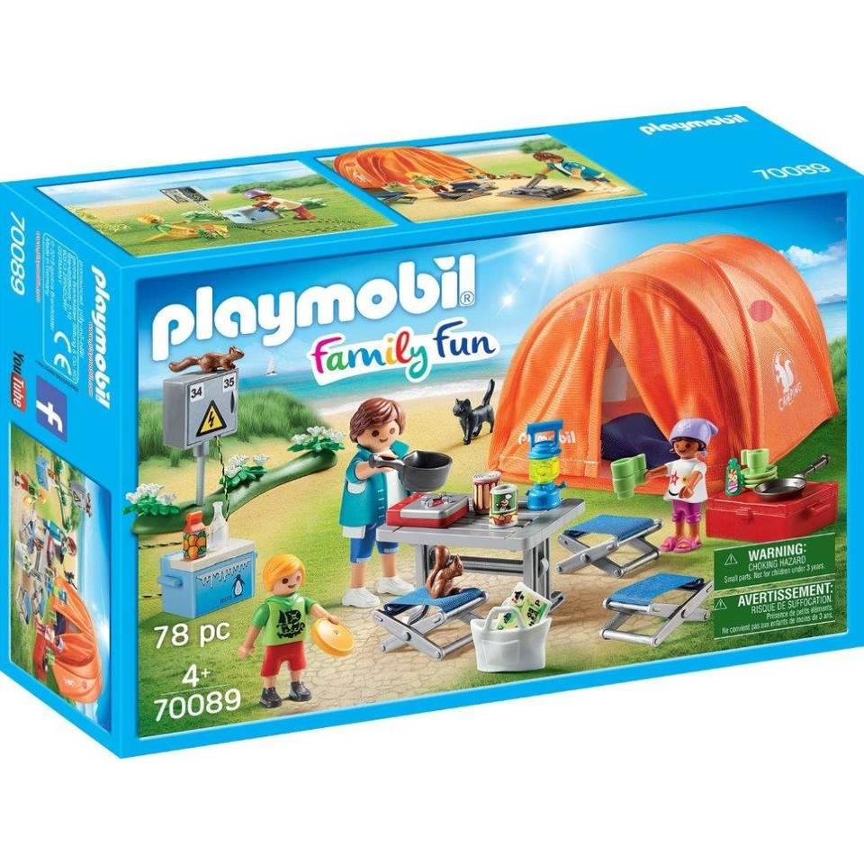PLAYMOBIL Family Fun kampeerders met tent 70089