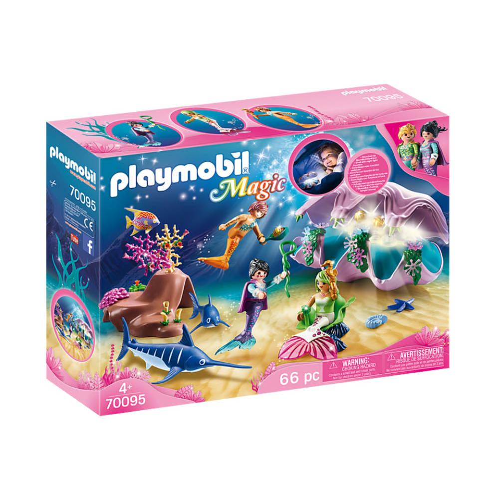 PLAYMOBIL Magic nachtlamp in schelp met meerminnen 70095