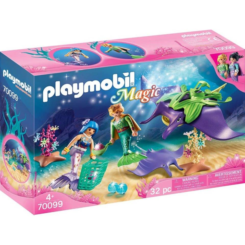 PLAYMOBIL Magic parelvissers met roggen 70099