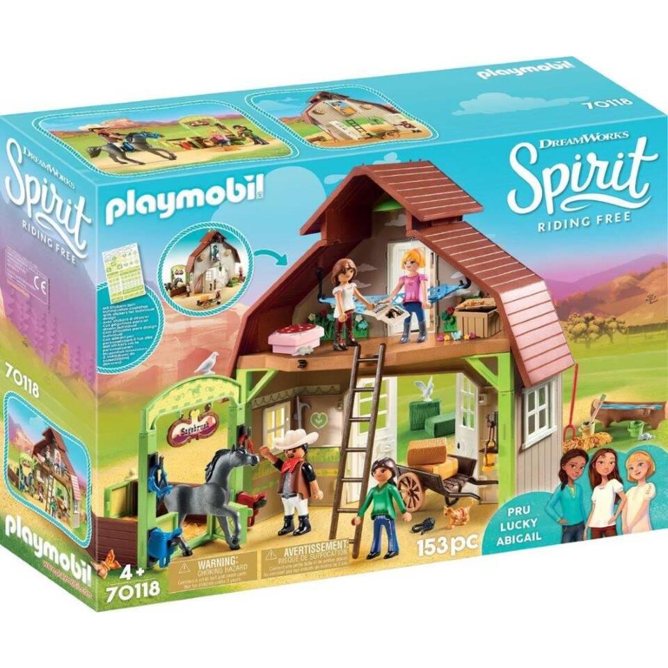 PLAYMOBIL Spirit paardenschuur met Lucky Pru en Abigail 70118
