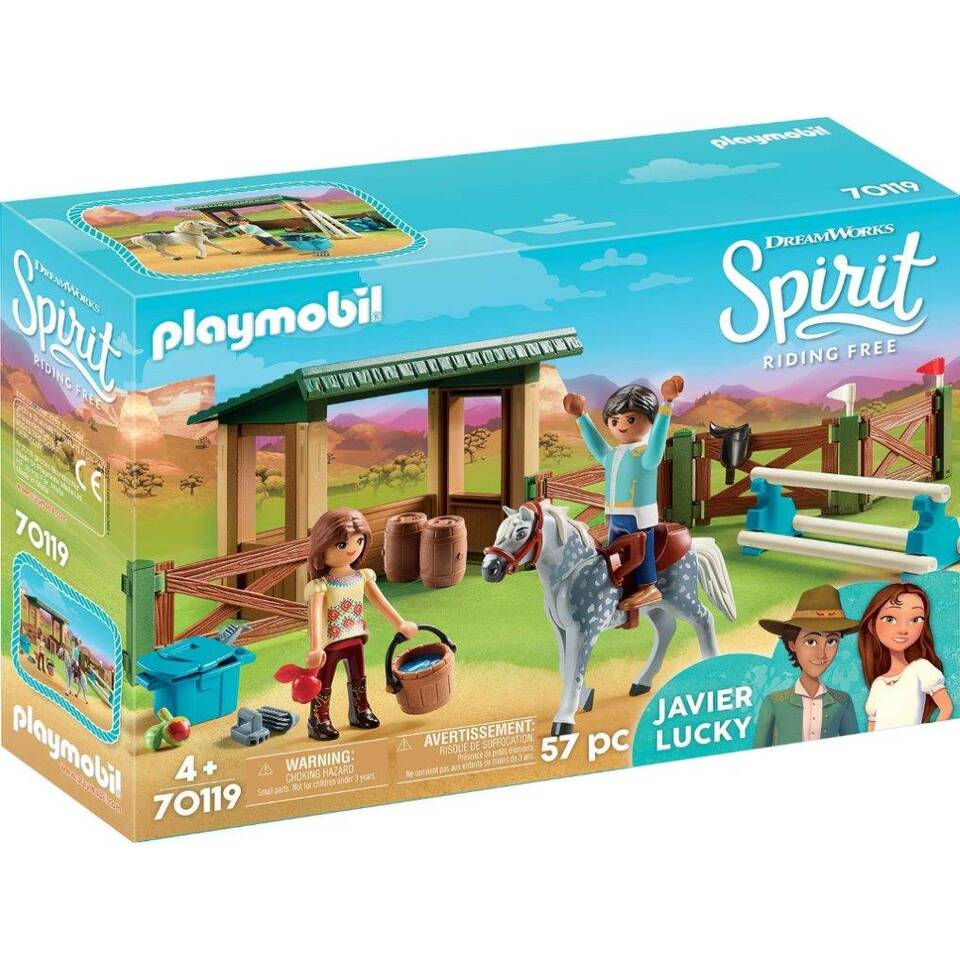 PLAYMOBIL Spirit speelset arena met Lucky en Javier 70119