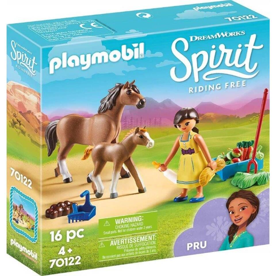 PLAYMOBIL Spirit speelset Pru met paard en veulen 70122