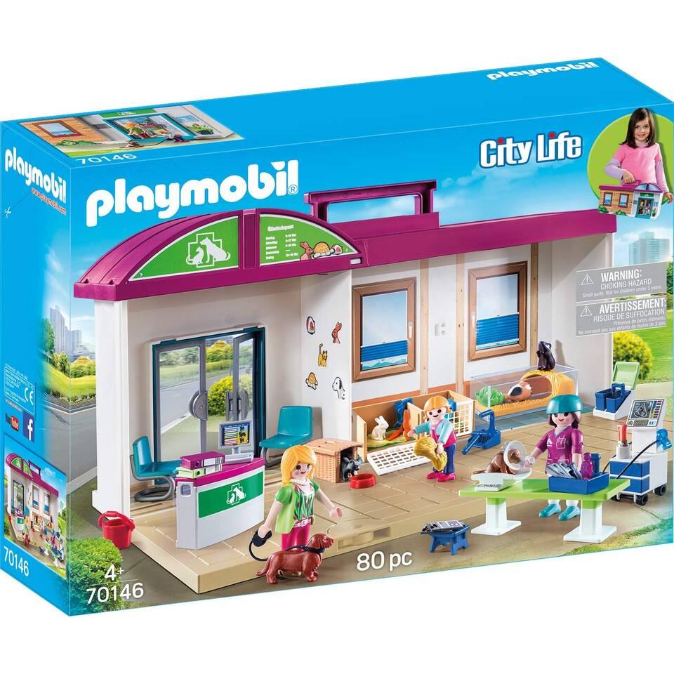 PLAYMOBIL City Life meeneem dierenkliniek 70146