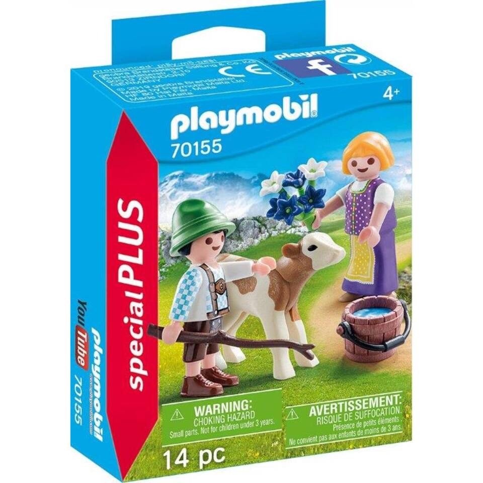 PLAYMOBIL SpecialPLUS kinderen met kalf 70155