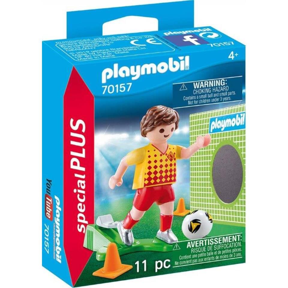 PLAYMOBIL SpecialPLUS voetballer met doel 70157