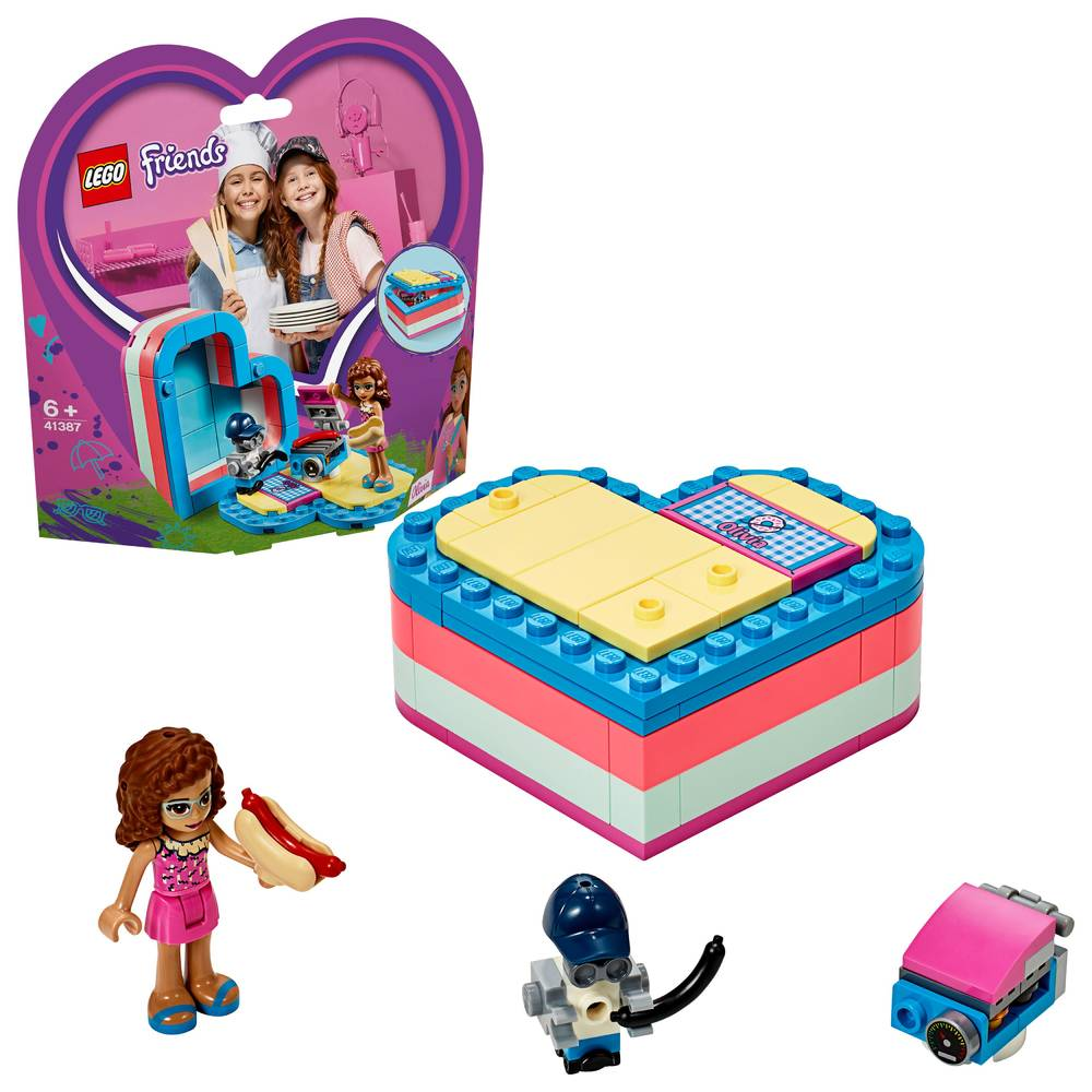 LEGO Friends Olivia's hartvormige zomerdoos 41387