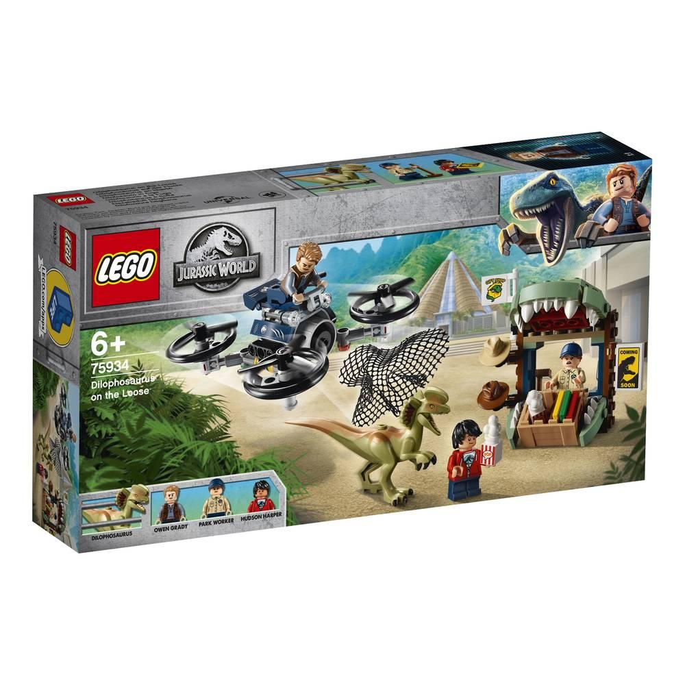 LEGO Jurassic World dilophosaurus ontsnapt 75934