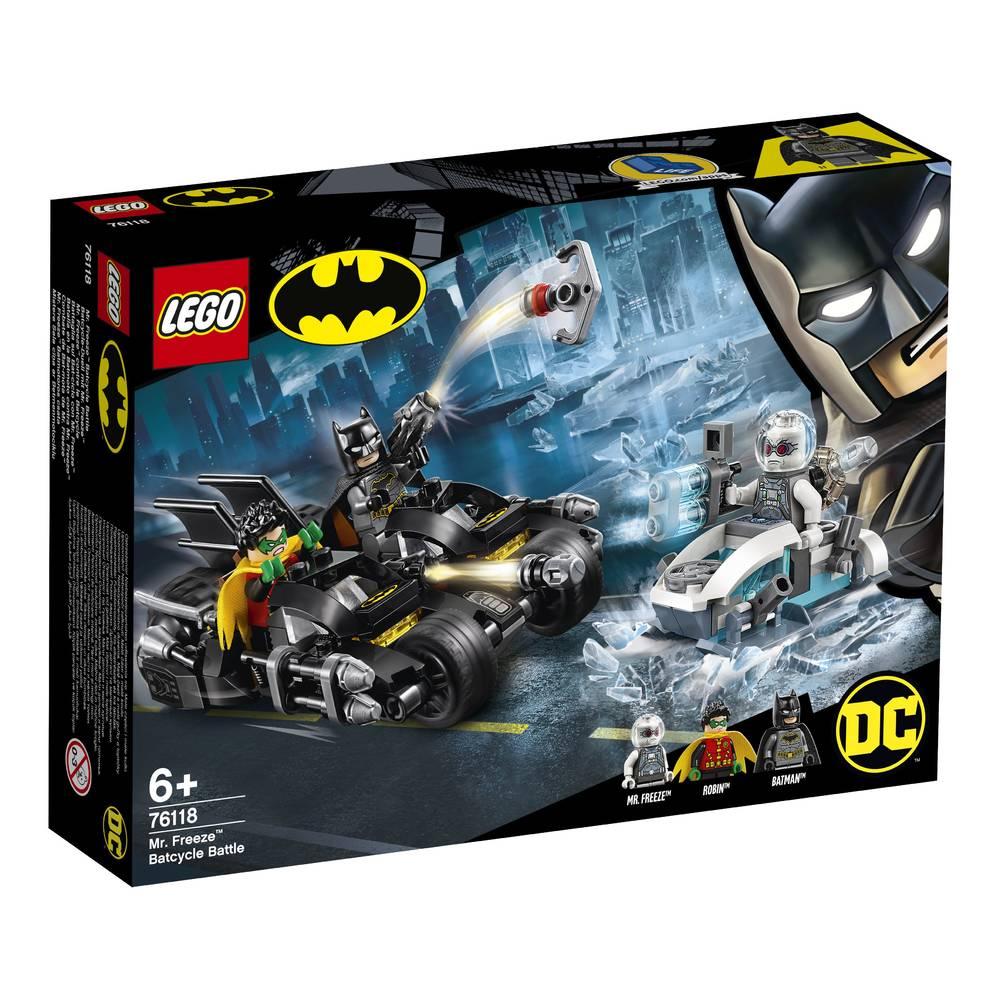 LEGO Super Heroes Mr Freeze het Batcycle gevecht 76118