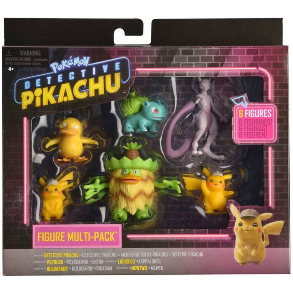 Pokémon Detective Pikachu battle speelfiguren multi set