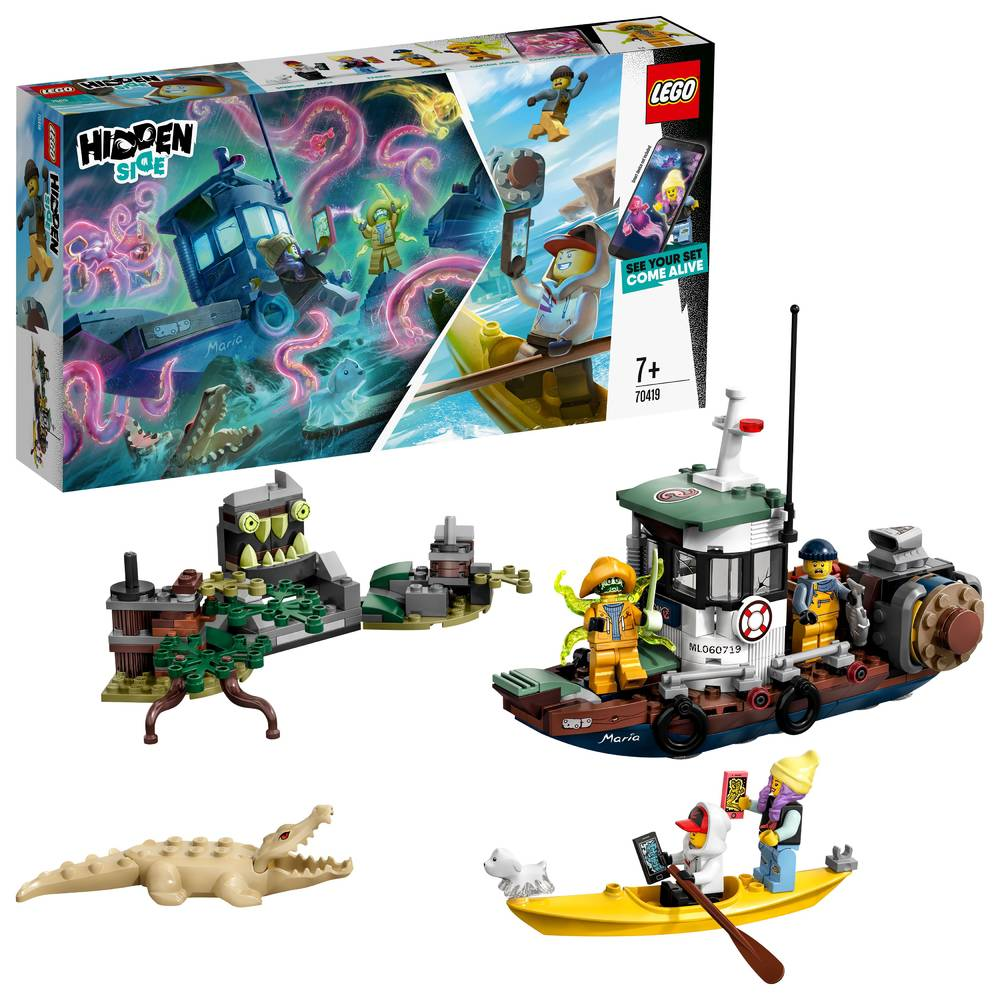 LEGO Hidden Side schipbreuk met garnalenboot 70419
