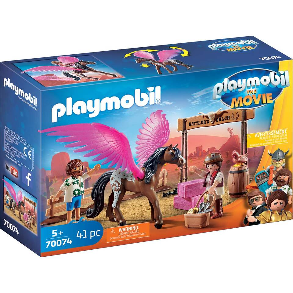 PLAYMOBIL THE MOVIE Marla en Del met gevleugeld paard 70074