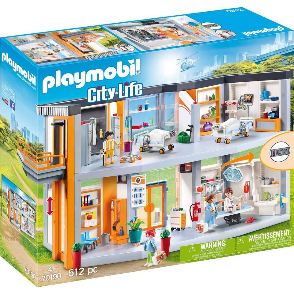 PLAYMOBIL City Life groot ziekenhuis met inrichting 70190