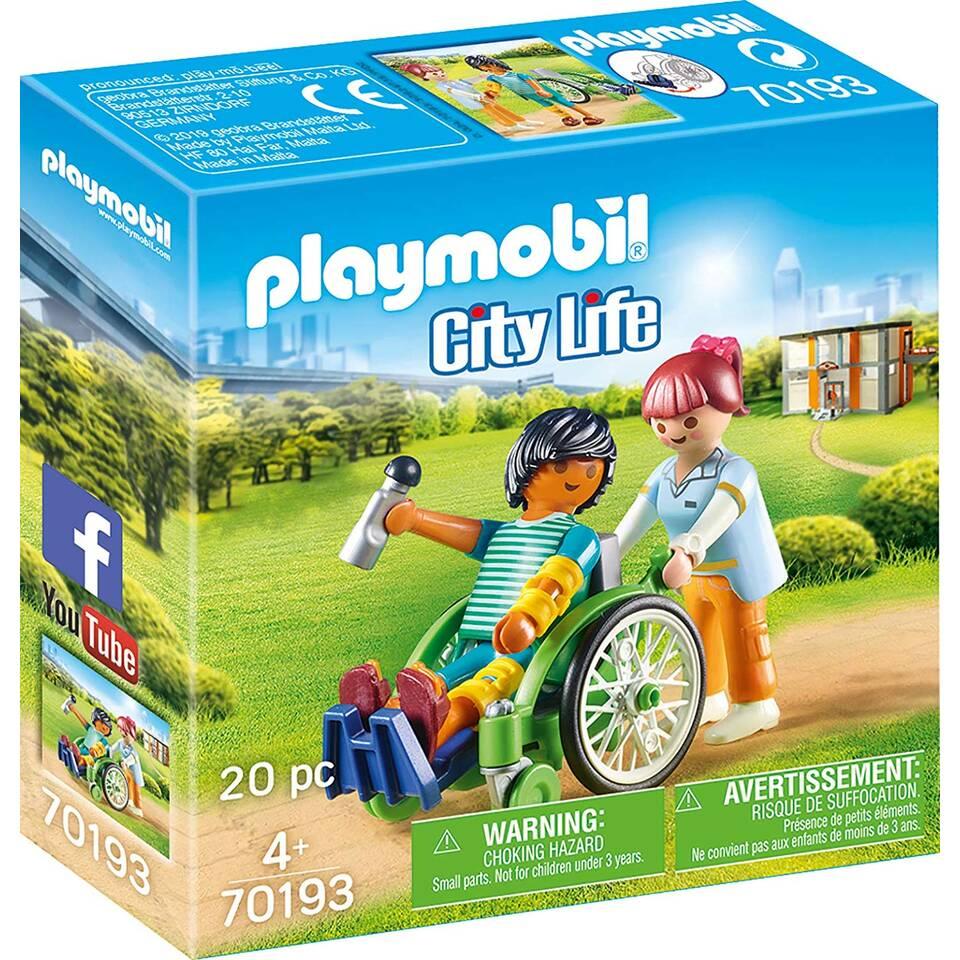 PLAYMOBIL City Life patiënt in rolstoel 70193