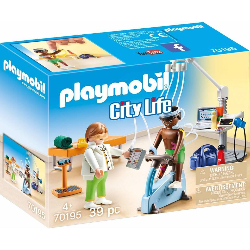 PLAYMOBIL City Life praktijk fysiotherapeut 70195
