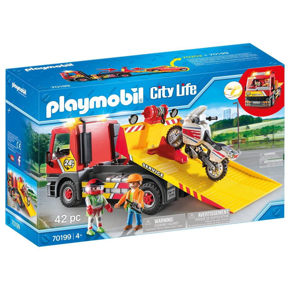 PLAYMOBIL City Life sleepwagen met motor 70199