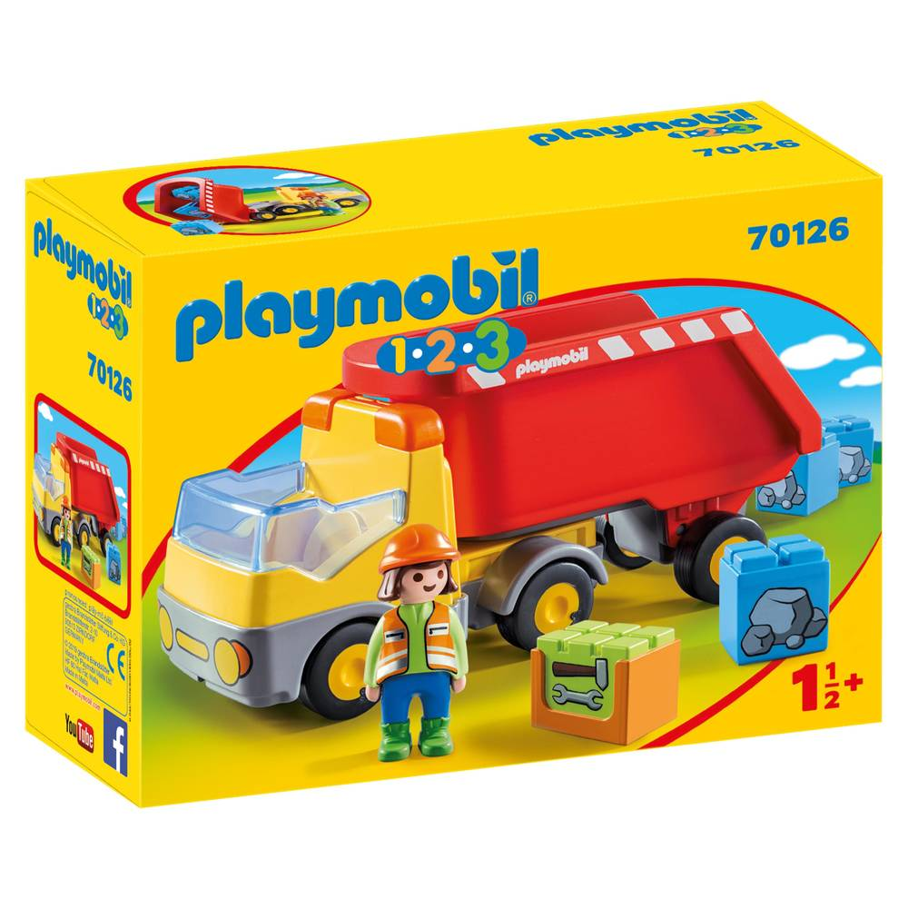 PLAYMOBIL 1.2.3 kiepwagen 70126