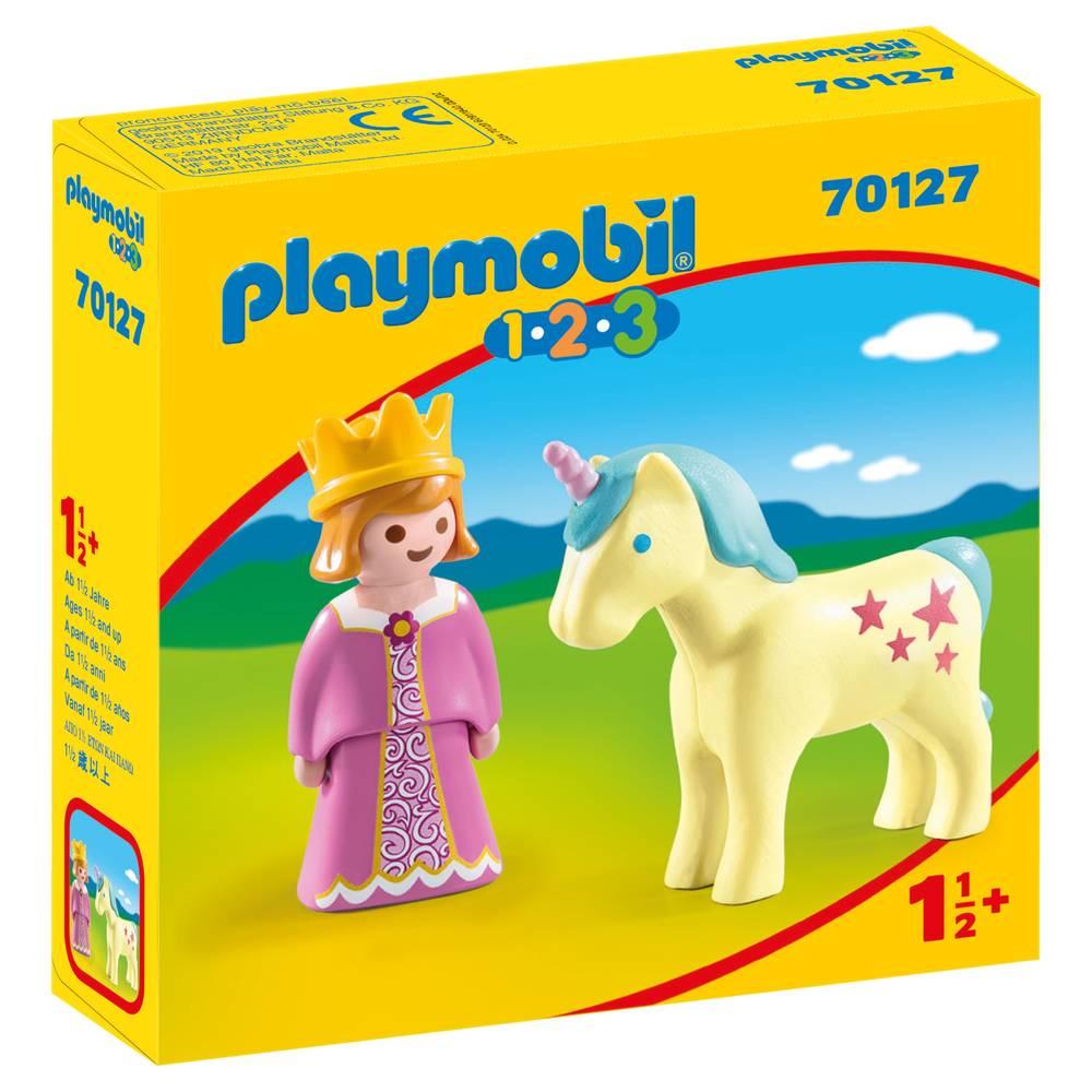 PLAYMOBIL 1.2.3 prinses en eenhoorn 70127